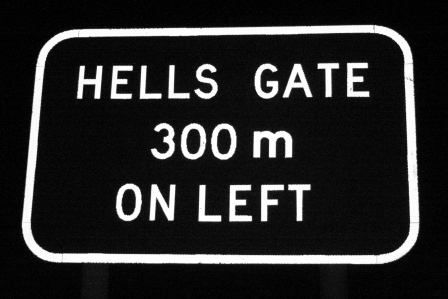 hells gate sign
